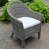Three Birds Vienna Wicker Dining Arm Chair - Available to ship in July