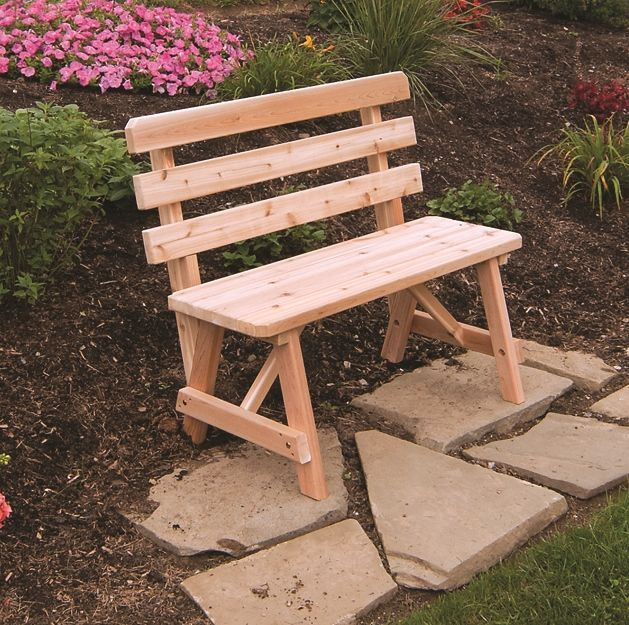 Peachy Traditional Cedar Backed Bench 2 3 4 5 6 Or 8 Ocoug Best Dining Table And Chair Ideas Images Ocougorg