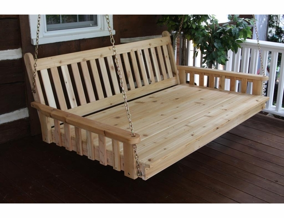 Traditional Cedar English Swing Bed (4', 5' or 6')