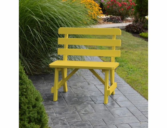 Traditional Pine Backed Bench (2', 3', 4', 5', 6', or 8')