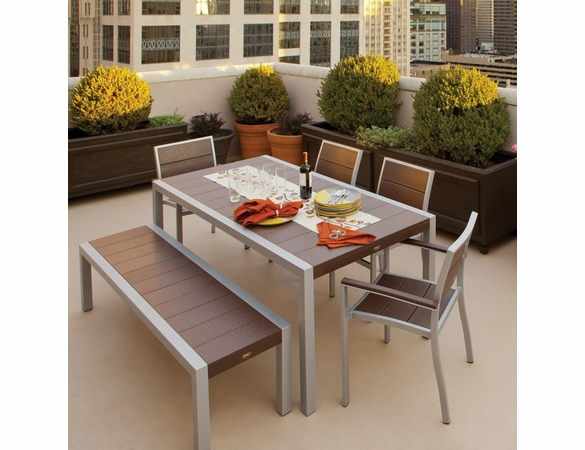 TREX® Surf City Seat and Bench Dining Set - Currently Unavailable