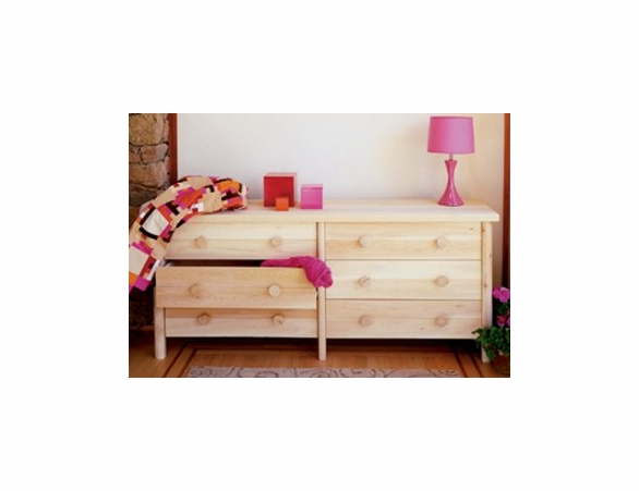 White Cedar Six Drawer Dresser - Not Currently Available