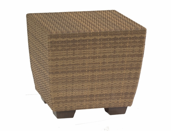 Whitecraft by Woodard Saddleback Wicker Bunching Table