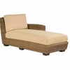 Whitecraft by Woodard Saddleback Wicker Chaise Lounge Sectional- Right Arm Facing