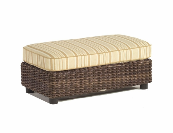 Whitecraft by Woodard Sonoma Wicker Ottoman and a Half