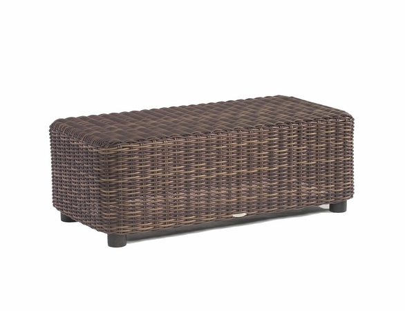 Whitecraft by Woodard Sonoma Wicker Rectangular Coffee Table