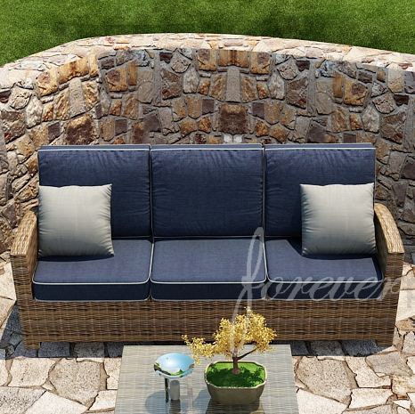 Forever Patio Cypress Wicker 3-Seat Sofa