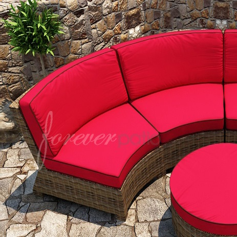 Forever Patio Cypress Curved Wicker Loveseat Armless