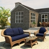 Wicker Forever Patio 3 Pc Catalina Sofa Seating Set