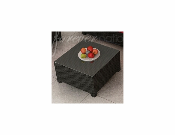 """Wicker Forever Patio Barbados 32"""" Square Coffee Table"""