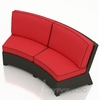 Wicker Forever Patio Barbados Curved Sofa