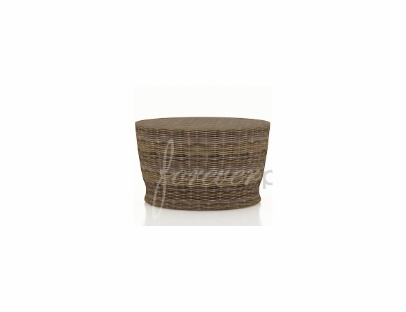 "Wicker Forever Patio Cypress 34"" Dia Round Chat Table"