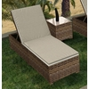 Wicker Forever Patio Cypress Single Adjustable Chaise Lounge