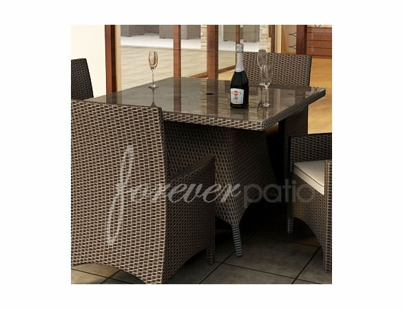 """Wicker Forever Patio Hampton 48"""" Square Dining Table"""