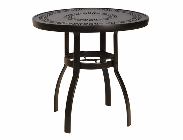 "Woodard Aluminum Deluxe 30"" Round Trellis Top Bistro Table"