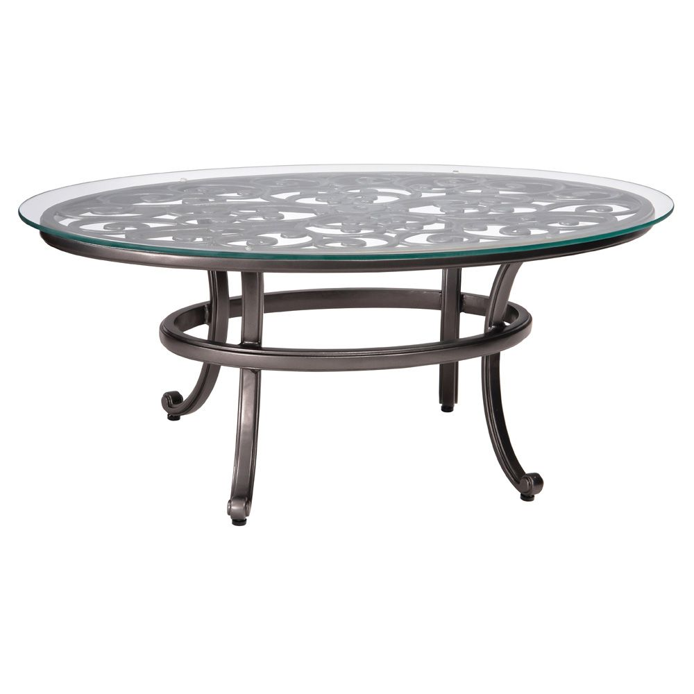 Admirable Woodard Aluminum New Orleans Oval Coffee Table Glass Top Home Remodeling Inspirations Basidirectenergyitoicom