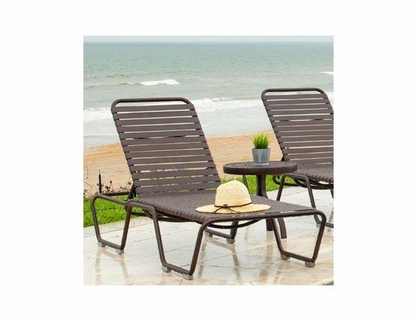Woodard Baja Aluminum Stackable Chaise Lounge