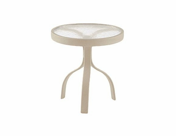 """Woodard Deluxe Aluminum 18"""" Round End Table - Multiple Finishes"""
