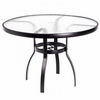 "Woodard Deluxe Aluminum 42"" Round Umbrella Table - Multiple Finishes"