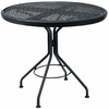 "Woodard Mesh Top Wrought Iron 30"" Round Dining Table"