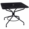 "Woodard Mesh Top Wrought Iron 36"" Square Dining Umbrella Table - Cafe' Series"