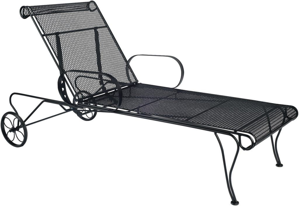 Woodard Wrought Iron Adjule Chaise Lounge 1 Jpg