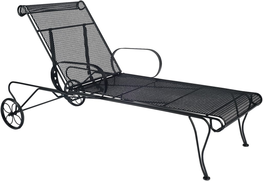 Woodard Wrought Iron Adjustable Chaise Lounge