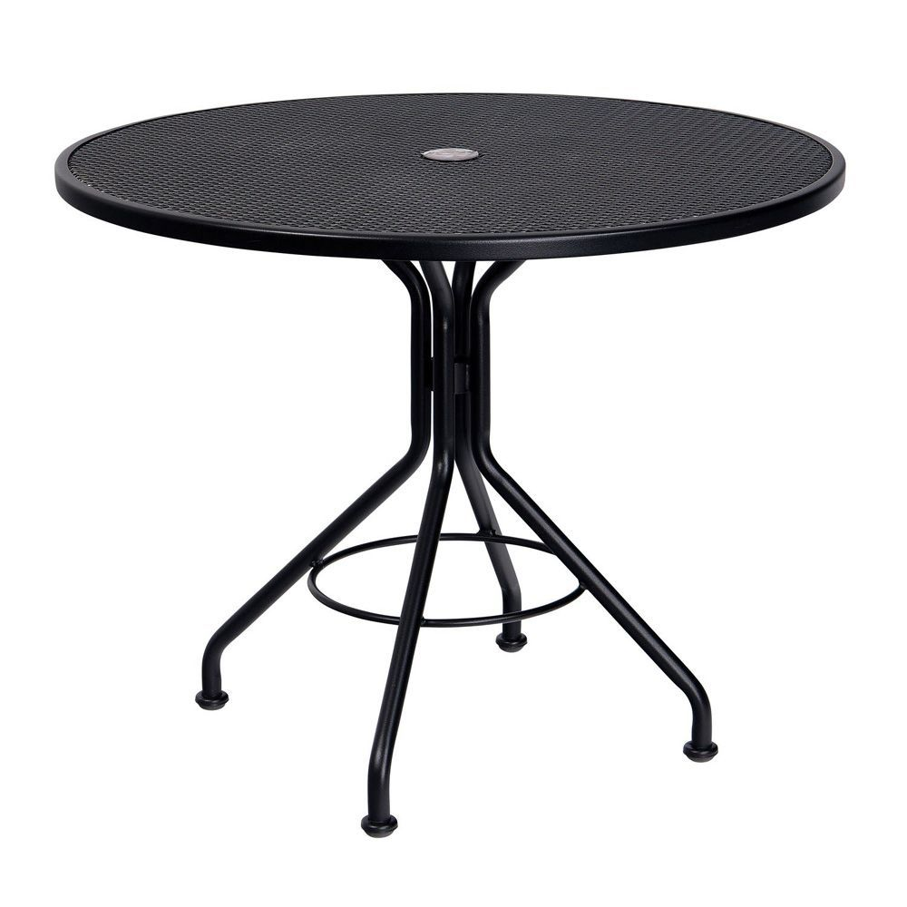 56f45718168c Woodard Wrought-Iron Contract Mesh Round Dining Table