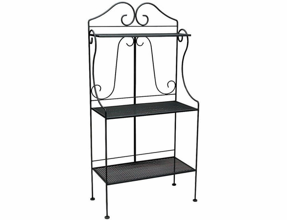 Woodard Wrought Iron Deluxe Baker's Rack