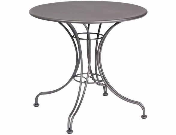 "Woodard Wrought Iron Hamilton 30"" Round Solid Top Bistro Table"
