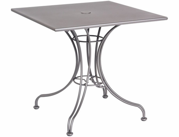Woodard Wrought Iron Hamilton Square Solid Top Bistro Table - Multiple Sizes