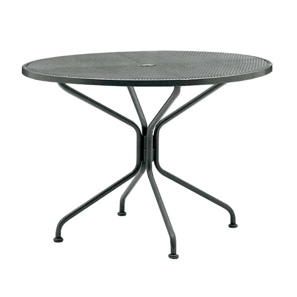 86224701a2d8 Woodard Wrought-Iron Premium Mesh Round Dining Table