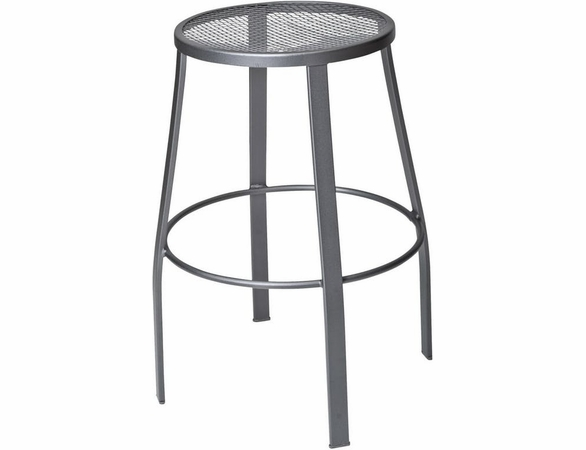 Woodard Wrought Iron Round Bar Stool