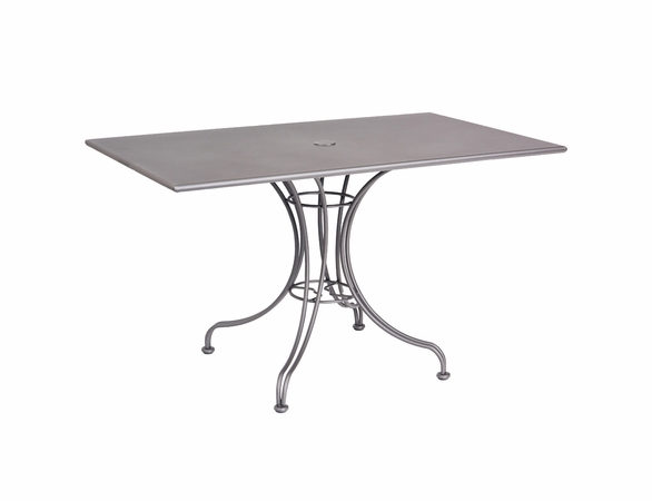 Woodard Wrought Iron Solid 48 Rectangular Dining Table