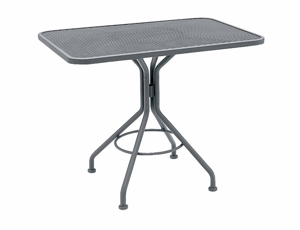 Woodard Wrought Iron Square Mesh Top Bistro Table - Multiple Sizes