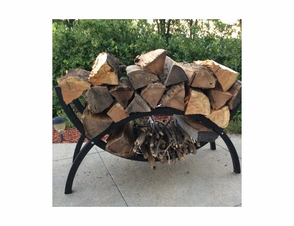 Woodhaven Small Crescent Firewood Rack