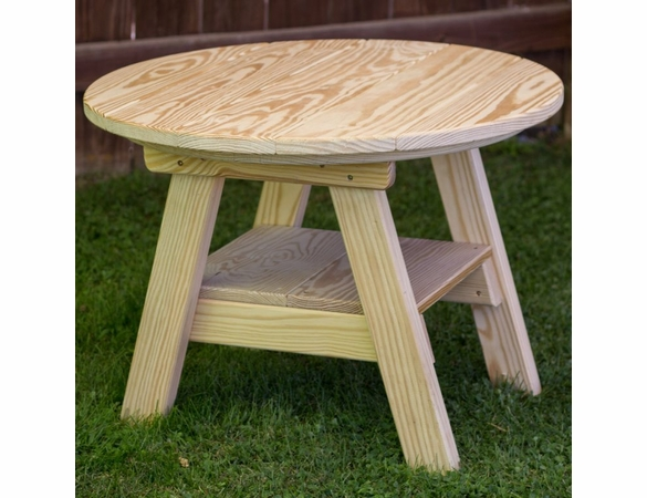 """Yellow Pine Outdoor 27"""" Round Dining Table"""