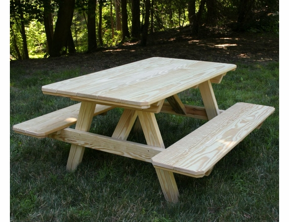 Yellow Pine Outdoor Kid's Picnic Table