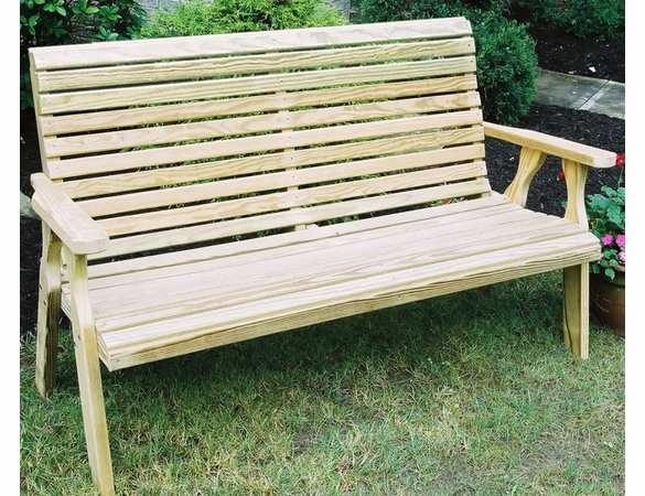 Yellow Pine Outdoor Rollback Bench