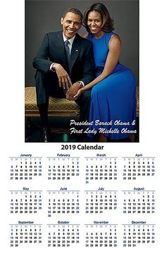 Barack and Michelle Obama 2019 Wall Calendar Poster - Available in 2 Sizes!