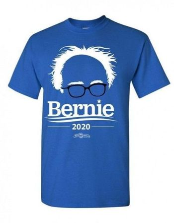 Campaign Workers Special - Bernie 2020 Blue T-Shirts  Only $!