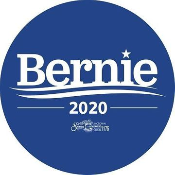 Bernie Sanders 2020 Blue Button