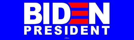 Biden for President 2020 Blue Bumper Sticker