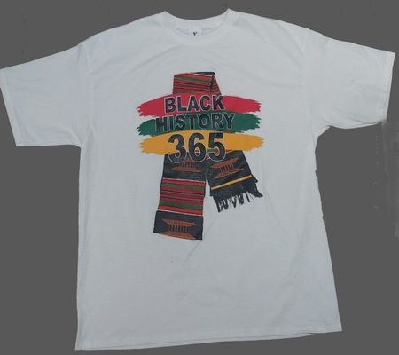 Black History 365 White T-Shirt