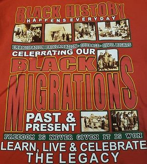 New! Celebrating Black Migrations 2019 Black History Red T-Shirt