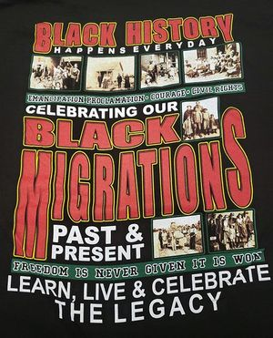 New! Celebrating Black Migrations 2019 Black History Black T-Shirt