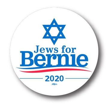 Jews For Bernie 2020 Button- Available in 3 Sizes!