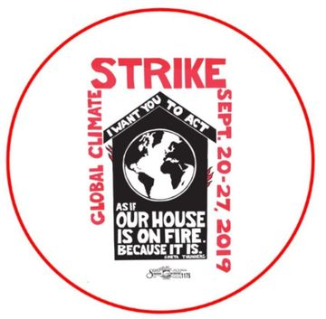 "Climate Strike Our House Is On Fire 2.25"" Button"