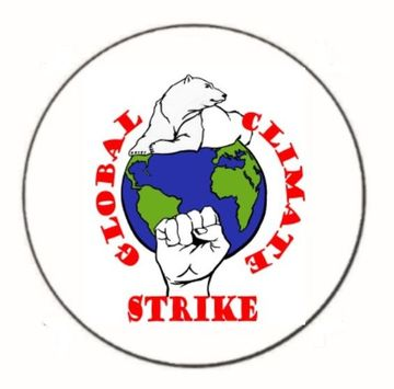 "Global Climate Strike 1.25"" Button"
