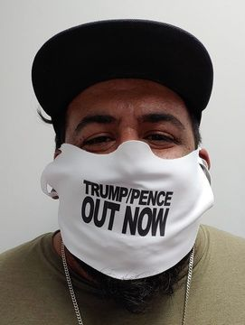 Trump/Pence OUT NOW! Safety Face Mask